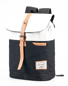 Hotstyle 902s Classic Canvas Vintage Fashion Unisex Rucksack Laptop Backpack Daypack Shoulder Bag Pack (24L) For School Camping Travel Fits Acer Aspire, MacBook, Chromebook, iPad (black) hotstyle