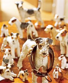 collect your favorite dog breed items- shown here a fox terrier collection