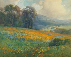 Percy Gray California wildflowers and rolling hills watercolor on paper (H 15.8, W 19.5) in. (40.0 x 49.5) cm. Sold for: US$33,550 € Tuesday...