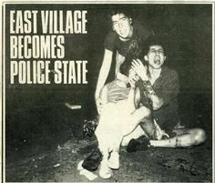 Victims of the police Aug 7, 1988- From Downtown magazine in Tompkins Square Riot Aug 1988 by