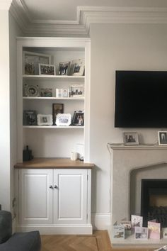 Bespoke Alcove Storage - Fitted Furniture by Alcove Designs Built In Cupboards Living Room, Alcove Storage Living Room, Alcove Cupboards, Alcove Shelving, Living Room Shelves, Home Living Room, Alcove Decor, Bedroom Alcove, Recessed Shelves