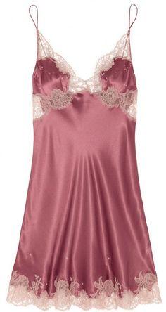 Carine Gilson Lace-trimmed silk-satin mousseliné chemise on shopstyle.com
