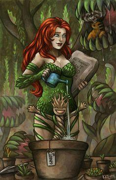 Ivy's Nursery by MerKatch Poison Ivy Character, Ivy Look, Batman Love, Poison Ivy Batman, Comic Book Girl, Gotham Girls, Female Hero, Nerd Love, Marvel