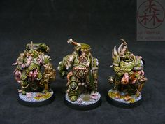 The blog post details how the models were converted and painted.