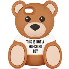 Moschino's bear phone cases are now on sale online, fresh off the runway: