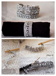 Metallic Crochet Bracelet