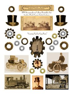 Free printable steampunk graphics .... http://plushpossumstudio.blogspot.com/2011/07/collage-printable-steamy-trip-to-gay.html