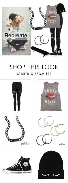 """""""Recreate"""" by parklanejewelry on Polyvore featuring Topshop, Billabong, Converse, women's clothing, women's fashion, women, female, woman, misses and juniors"""