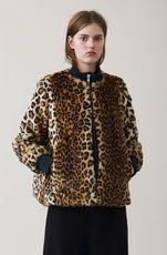Ferris Faux Fur Jacket, Leopard