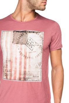 T-shirt com estampado frontal | 115328 Rosa | Salsa