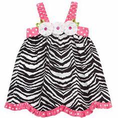 Rare Editions Zebra Sundress - Baby