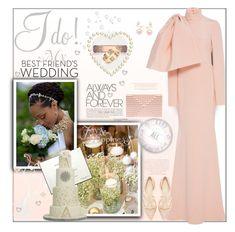 """""""My Bestie's Winter Wedding"""" by fassionista ❤ liked on Polyvore featuring Lazy Days, Christian Siriano, Lee Savage, LeiVanKash, Tacori, Cartier, WeddingGuest, Pink, besties and fashionset"""