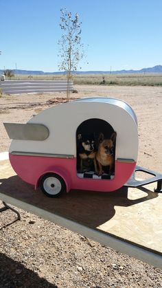 Teardrop Doggie Bed Camper - Papa's Heirloom gifts