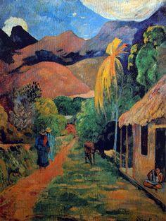 Paul Gauguin - Post Impressionism - Tahiti - Chemin à Papetee, rue de Tahiti - 1891