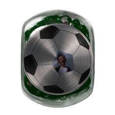 Soccer candy jar