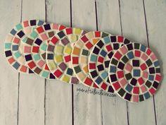 Cómo hacer posavasos redondos con mosaicos | Manualidades