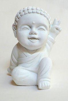 pieza de yeso. buda bebe rulitos de la paz
