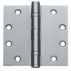 1 Box of 3 Hinges Commercial Grade Ball Bearing Door Hinge 4-1/2 X 4-1/2 Full Mortise Brushed Chrome -- 3- Pack