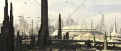 Star Wars - Coruscant Buildings 1 - Fototapety - Photowall