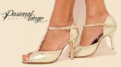 Zapatos De Baile,tango, Salsa Mujer Color Cuero Platino - $ 1.400,00 en Mercado Libre