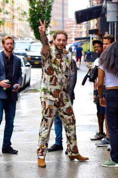 Best-dressed men of the week, from Harry Styles to Andrew Scott New York From Above, White Iverson, Post Malone Wallpaper, Love Post, Best Dressed Man, Gq Magazine, Grunge Hair, Hugh Jackman, Celebs