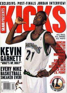 aaf6ebd04c8dcc SLAM Presents KICKS 1  Minnesota Timberwolf Kevin Garnett appeared on the  inaugural cover of KICKS