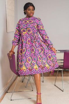 Ankara Fashion Inspiration: These Short Ankara Dresses Will Surely Stand you out. Best African Dress Designs, Best African Dresses, Short Ankara Dresses, Ankara Skirt And Blouse, African Traditional Dresses, African Print Dresses, African Fashion Dresses, African Wear, Ankara Fashion