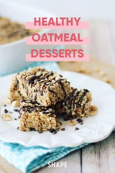 Oat desserts FTW! Whole grain oats can do a lot more than just fill up your bowl for breakfast. Here are some oat-filled dessert recipes that are actually good for you! #oatmeal #healthydesserts