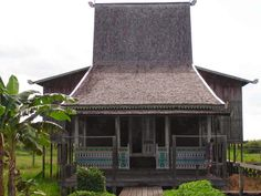 Rumah Banjar (Banjar House),  South Borneo/ Kalimantan traditional house,  Indonesia.
