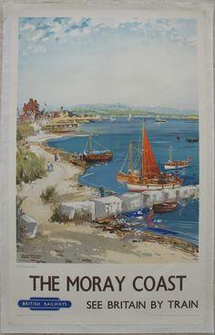Original Railway Poster Original Railway Poster The Moray Coast - Frank Mason