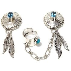 Concho Ear Cuff Sterling Silver Earrings – Tribal Native L.A. ($250) found on Polyvore
