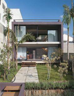 O terreno só tem 8 m de frente, mas rendeu uma casa de 192 m² com solário, no boêmio bairro da Vila Madalena, em São Paulo