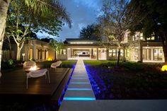 LED lit walkway