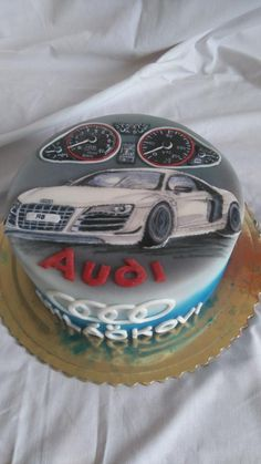 Hand painted audi - Cake by Blacksun