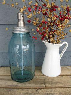 Mason Jar Half Gallon Soap Dispenser with by tickledpinkgoods, $26.00