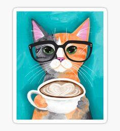 Kitten's Latte of Love Sticker