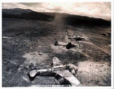 WWII Hollandia Japanese Airfield Bombing Run 1944