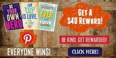 Enter And Get Rewarded Today! http://www.rewardsgold.com/members/promos/pinterest/bekind/index.htm