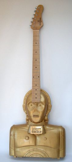 C-3PO Guitar Made From Star Wars Action Figure Case