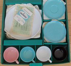Vintage BROOKPARK MELMAC Dishes  in Original Box