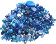 Mixed Lot of Beads in Blues by BeadsFromHaven on Etsy, $7.45