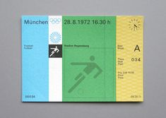 COOL TICKET PASSES FOR THE 1972 MUNICH OLYMPIC GAMES