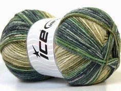 Bamboo Wool Magic Navy Green Shades fnt2-25990
