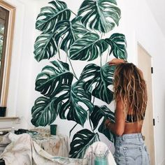 Monstera Deliciosa Tropical Plants - New Deko Sites My New Room, My Room, Mawa Design, Monstera Deliciosa, Interior Paint Colors, Interior Painting, Gray Interior, Interior Design, Tropical Plants