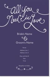 all you need is love black Invitations & Announcements