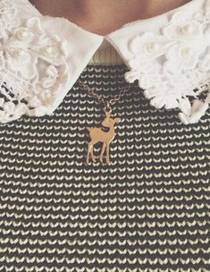 Fawn necklace and Lacy collar - Style ideas ☛Amy's Favorite Things ☚ Like this? Visit my board!