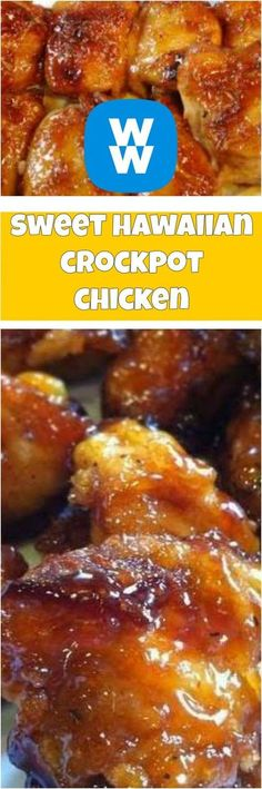weight watchers sweet hawaiian crockpot chicken recipe weight watchers sweet hawaiian crockpot chicken recipe – Cucina Delish Baked sweet hawaiian chicInstant Pot sweet and souSweet and Spicy Bacon Wra Crock Pot Recipes, Crock Pot Cooking, Ww Recipes, Skinny Recipes, Slow Cooker Recipes, Cooking Recipes, Healthy Recipes, Recipies, Weight Watcher Crockpot Recipes