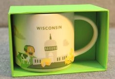 Starbucks Wisconsin You Are Here Collection Coffee Mug Cup New 2015 14 Oz | eBay