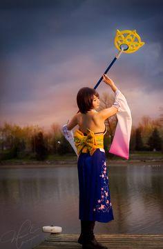Yuna - FFX cosplay by xwickedgames on DeviantArt Epic Costumes, Disney Costumes, Cosplay Costumes, Yuna Final Fantasy, Final Fantasy Cosplay, Yuna Cosplay, Cosplay Dress, Amazing Cosplay, Best Cosplay
