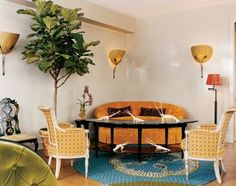 Exotic Living Room by Muriel Brandolini and Shamir Shah in New York, New York